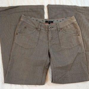 Express Wide Leg Brown Striped Womens Pants Size 2